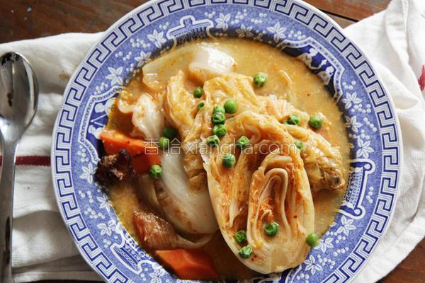 风炖辣酱奶油白菜的做法