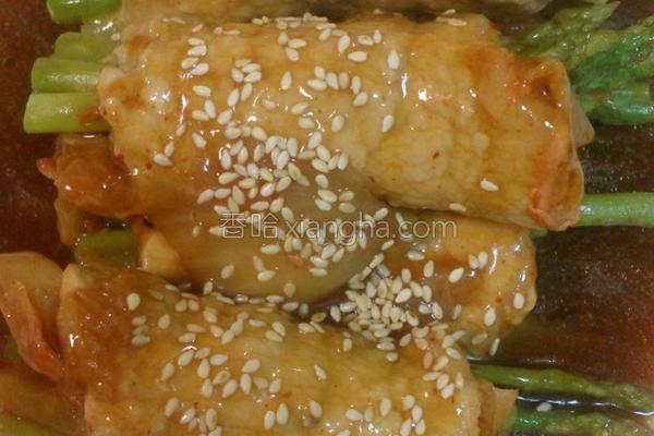 泡菜芦笋肉卷的做法