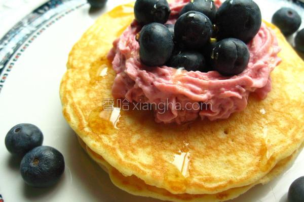蓝莓松饼的做法