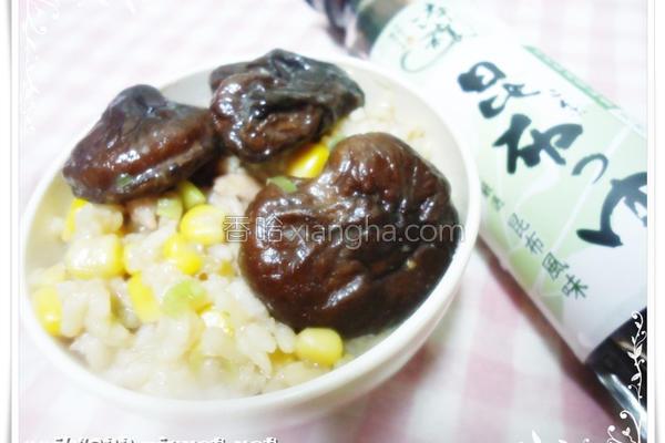 香菇玉米肉片粥的做法