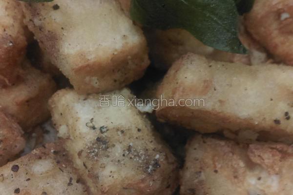塔香炸豆腐的做法