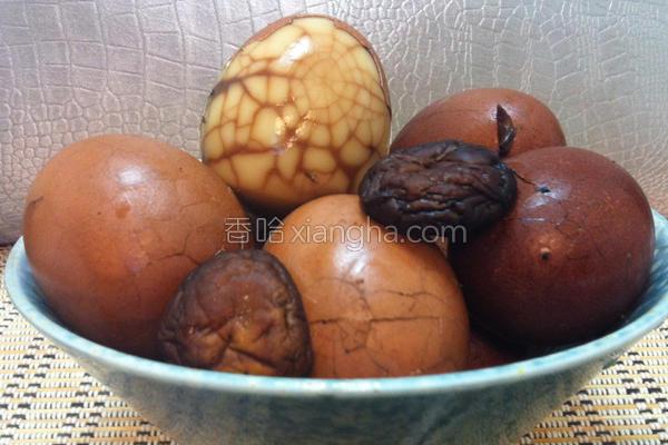 香菇茶叶蛋的做法