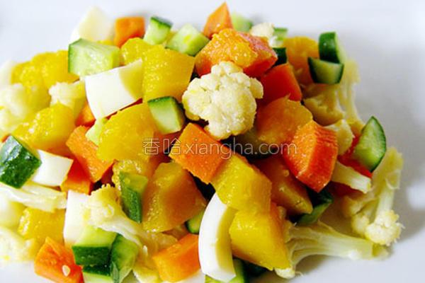 南瓜鲜蔬沙拉的做法