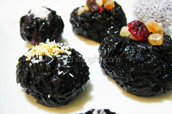 紫米‧紫薯椰丝球的做法