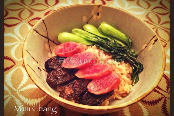 砂锅腊肠饭的做法