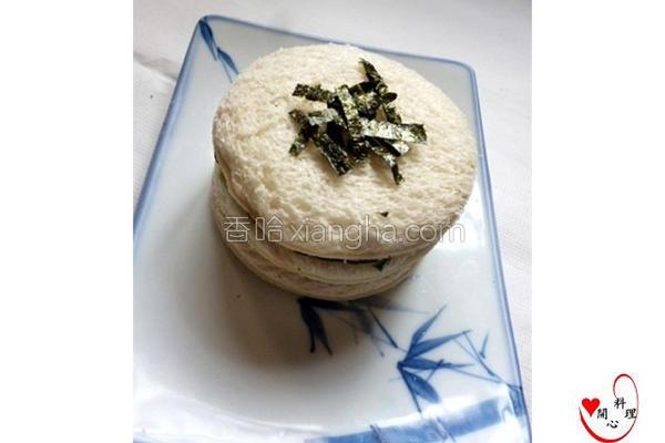 海苔圆形三明治的做法