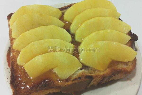 厨纸苹果烤土司的做法