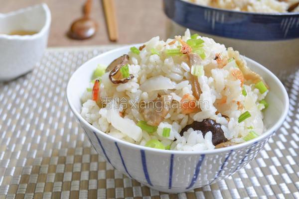 萝卜樱花虾炊饭的做法