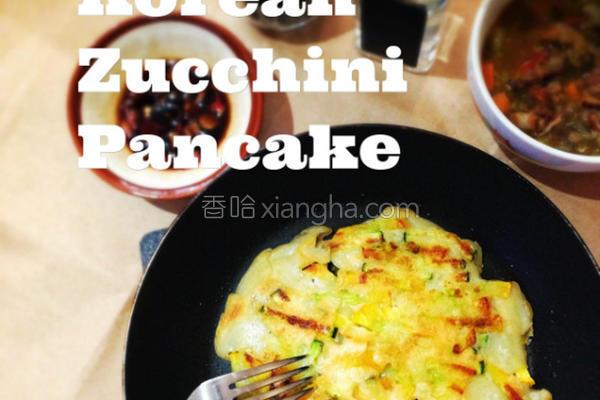 韩式栉瓜煎饼的做法