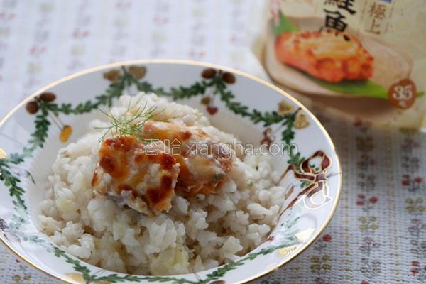 鲑鱼起司炖饭的做法