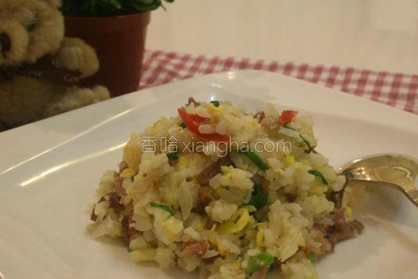 肉丝蛋炒饭的做法