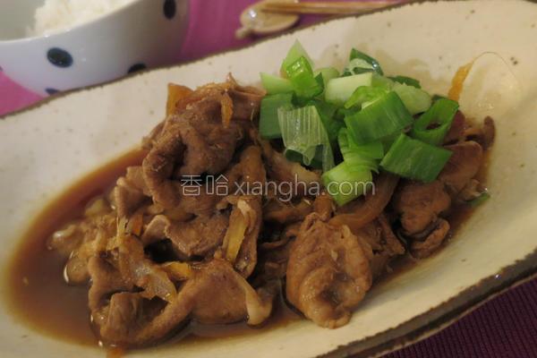 姜汁猪肉烧的做法