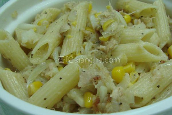 玉米鲔鱼意大利面的做法