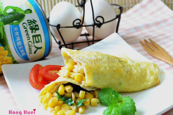 罗勒玉米蛋卷的做法