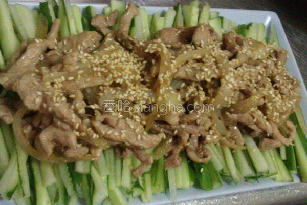 韩式酱烧芝麻肉丝的做法