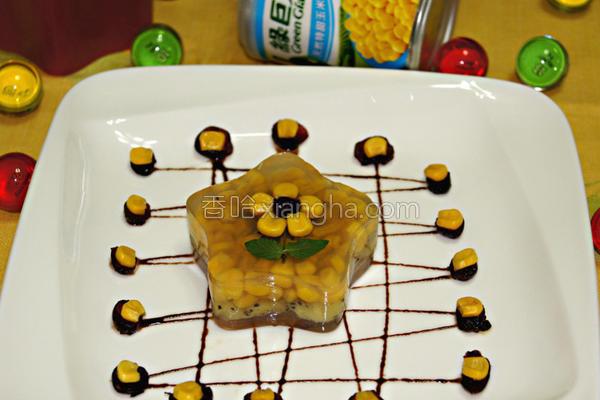玉米鲜果冻的做法