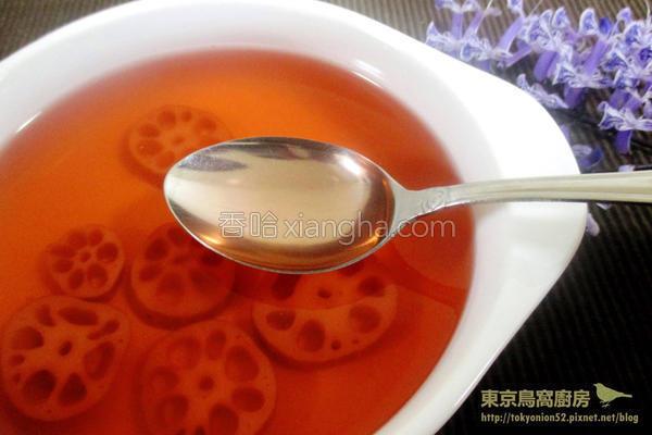 冰糖莲藕茶的做法
