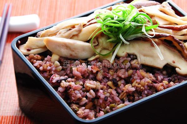 养生菇十谷米饭的做法