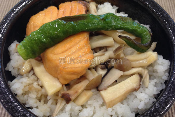 酱烧鲑鱼丼的做法