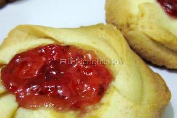 挤花果酱小饼的做法