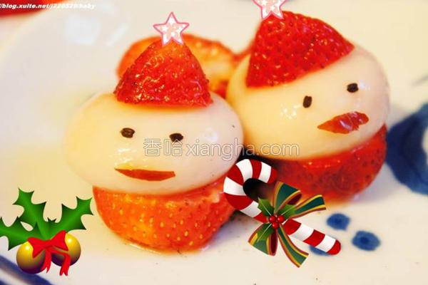 圣诞老公公汤圆的做法