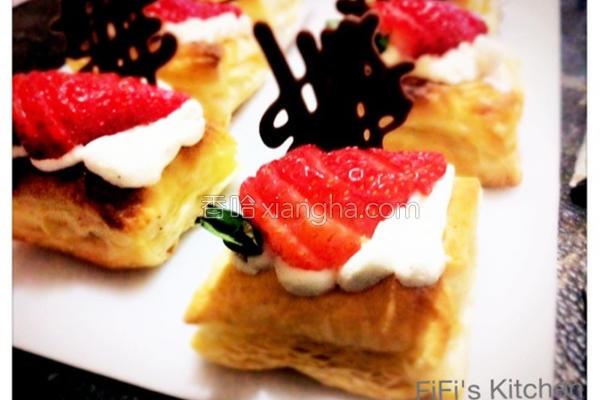 草莓起酥派的做法