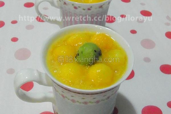 芒果椰奶西米露的做法