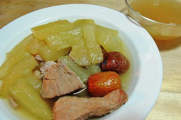 大黄瓜瘦肉汤的做法