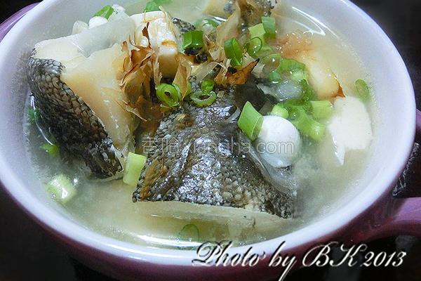 豆腐味噌鱼汤的做法