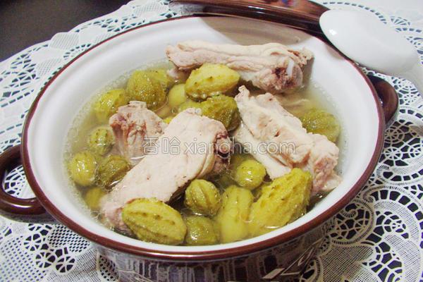 野生山苦瓜排骨汤的做法