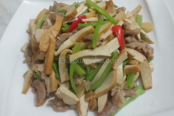 芹菜炒肉丝豆干的做法