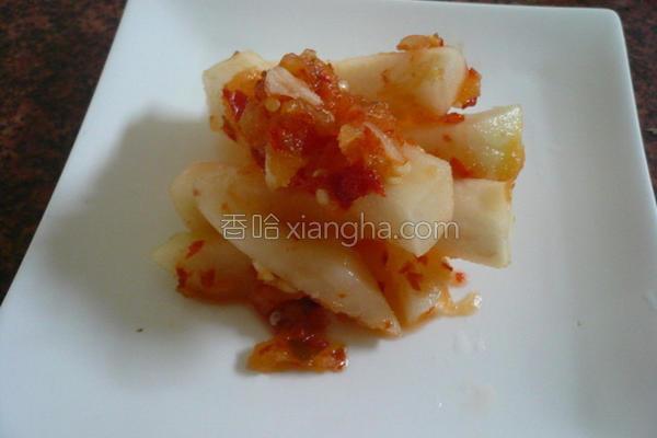 韩式辣味大头泡菜的做法