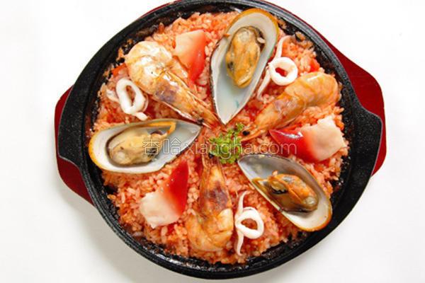 什锦番茄海鲜炖饭的做法