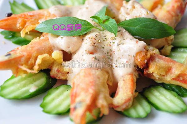奶香腐乳酱淋虾的做法