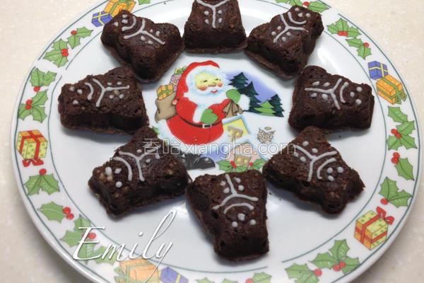 耶诞巧克力小蛋糕的做法