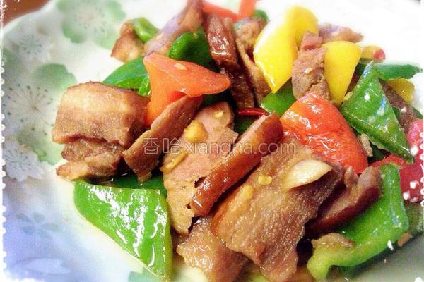 彩椒炒腊肉的做法