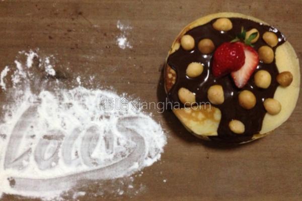 巧克力草莓薄饼的做法