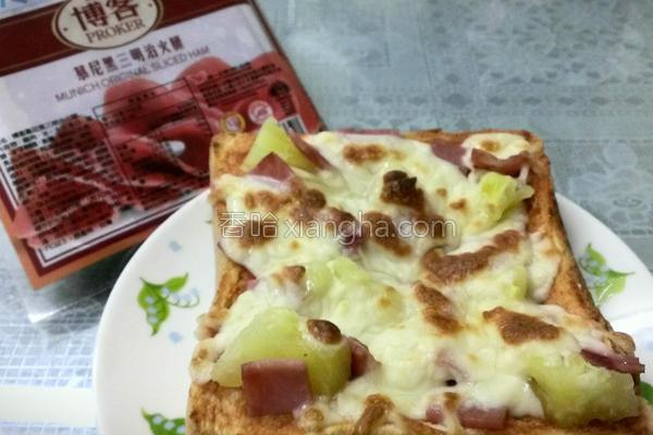 土司夏威夷披萨的做法