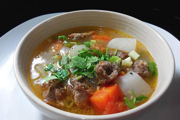 清炖蔬菜牛腩汤的做法