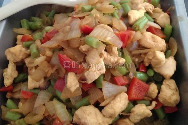 咖哩鸡丁四季豆的做法