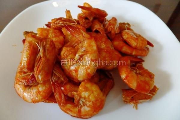 红滟滟麻油虾的做法