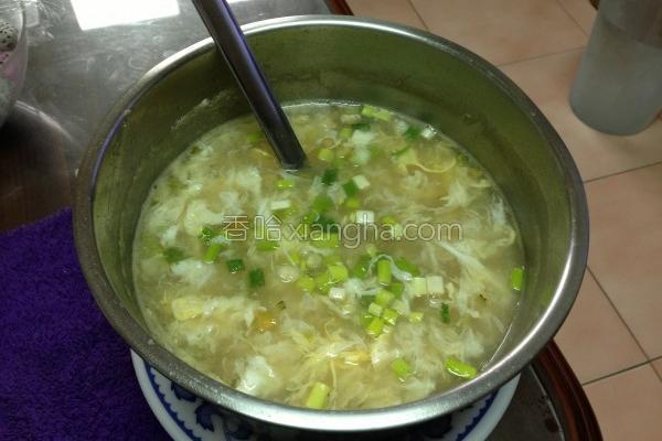 农红壳鸡蛋浓汤的做法