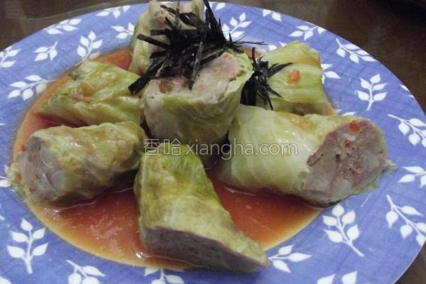 高丽菜肉卷的做法