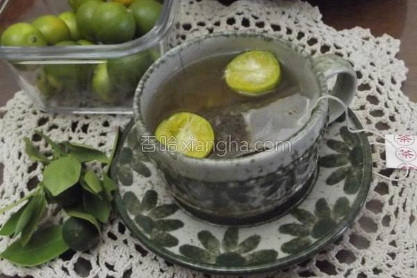 金桔绿茶的做法
