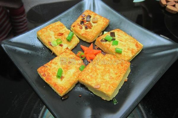 家常鸡蛋豆腐煎的做法