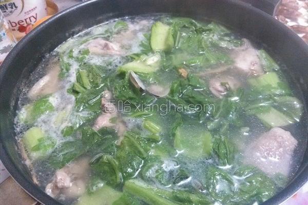 芥菜蛤蛎鸡汤的做法