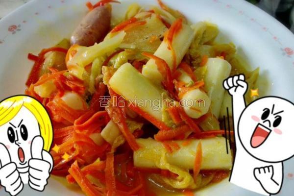 台式泡菜炒年糕的做法