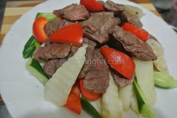 蔬菜炒牛肉的做法