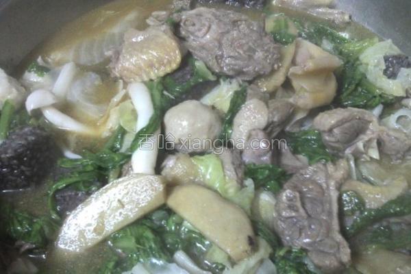 蔬菜鸭汤的做法
