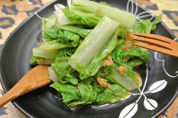 油葱酱拌小白菜的做法